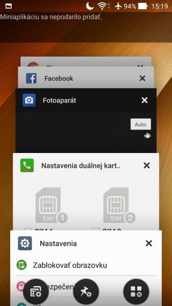 ASUS ZenFone 2 Prostredie OS 11