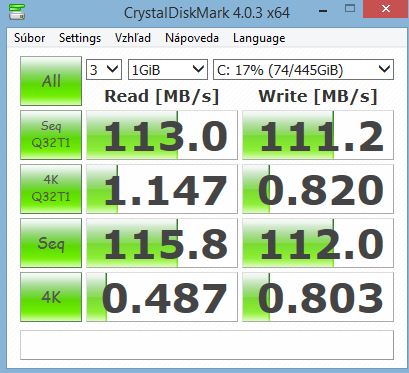 HP 15-r164nc CrystalDiskMark