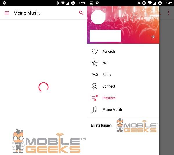 Apple Music Android aplikácia 03
