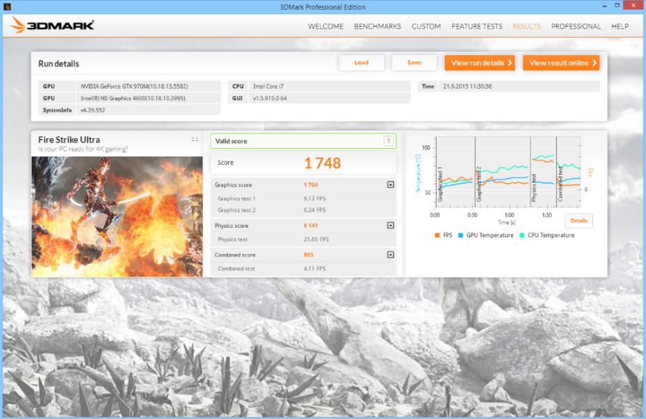 MSI GE62 Apache Pro 3D Mark 01