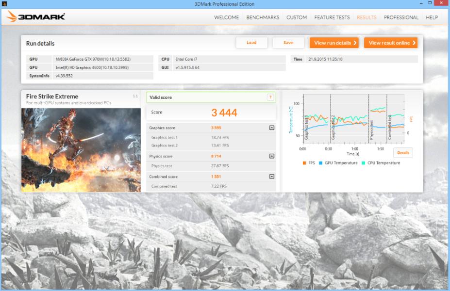 MSI GE62 Apache Pro 3D Mark 02