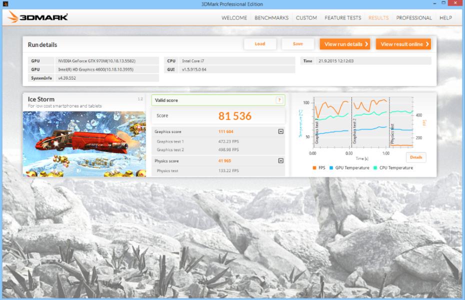 MSI GE62 Apache Pro 3D Mark 07