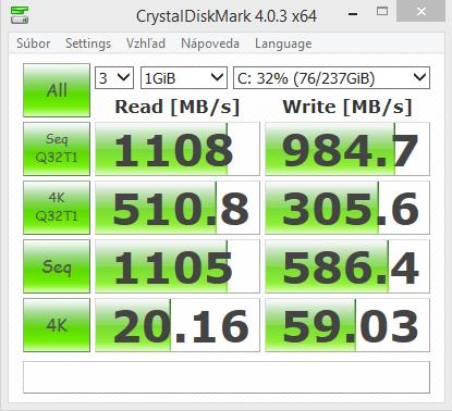 MSI GE62 Apache Pro CrystalDiskMark