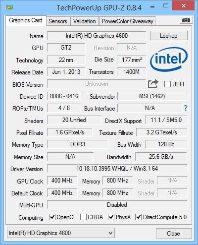 MSI GE62 Apache Pro TechPowerUp GPU-Z