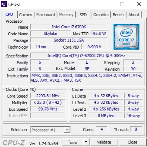 Eurocom Sky X4 CPU-Z 01