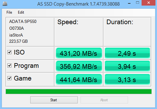 ADATA Premier SP550 240GB AS SSD Benchmark 03