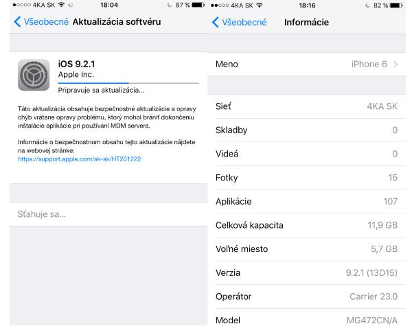 Apple iOS 9.2.1 update 02