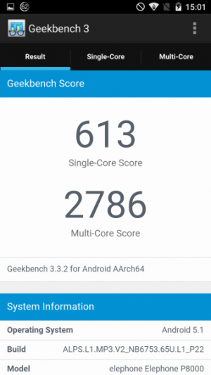 Elephone P8000 GeekBench 01