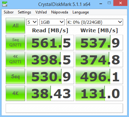 Corsair Neutron XT 240GB CrystalDiskMark