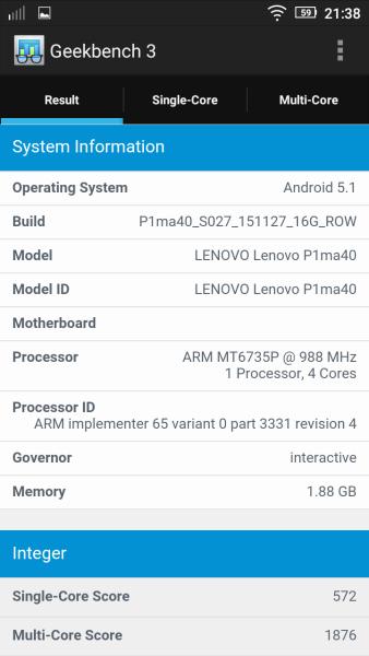 Lenovo Vibe P1m Geekbench 02