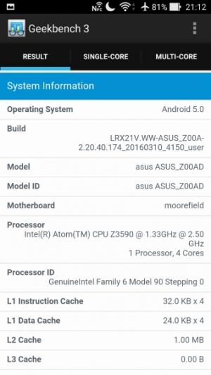 ASUS ZenFone 2 Deluxe GeekBench 02