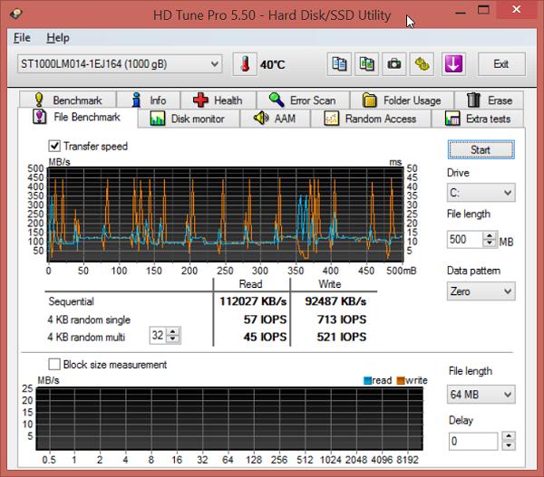 ASUS N551JK HD Tune Pro 02