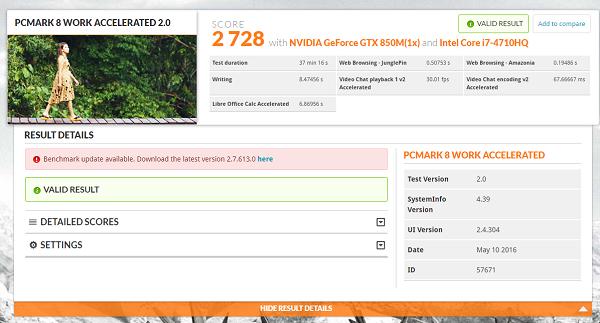 ASUS N551JK PCMark 03
