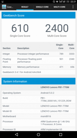 Lenovo Phab Plus GeekBench 01