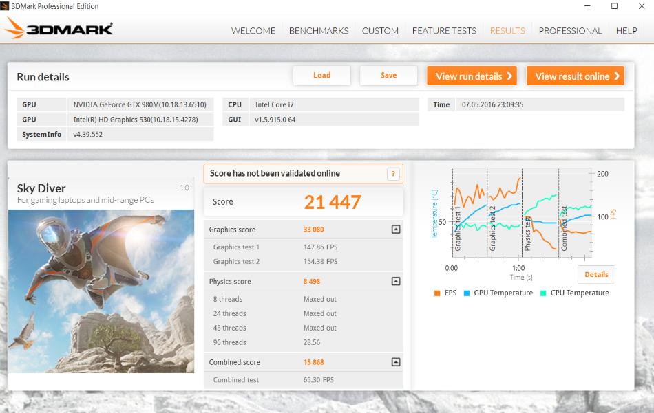 Eurocom Sky MX5 3D Mark 04