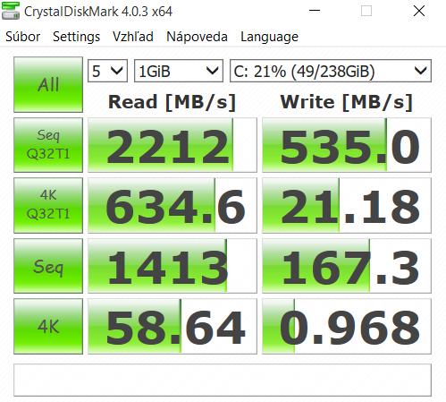 Eurocom Sky MX5 CrystalDiskMark 01