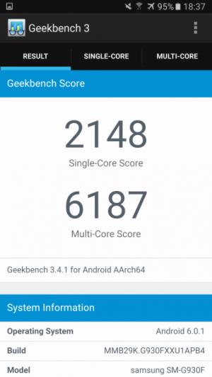 Samsung Galaxy S7 GeekBench 01