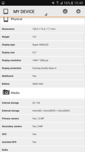 Samsung Galaxy S7 Edge 3D Mark 03