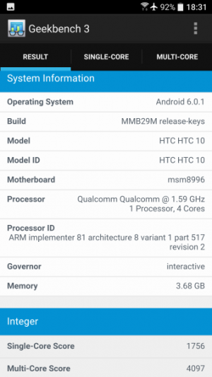 HTC 10 GeekBench 02