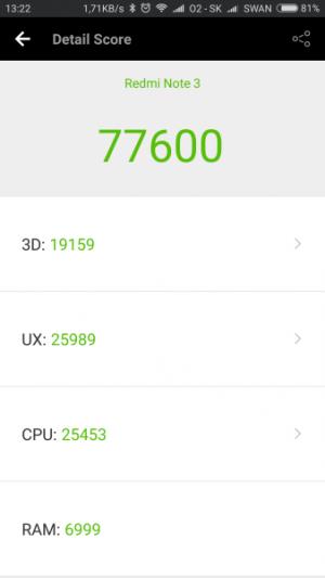 Xiaomi Redmi Note 3 Pro AnTuTu Benchmark 01