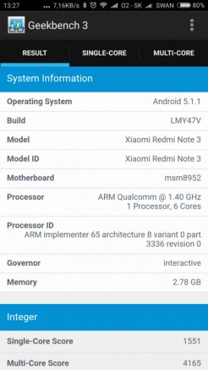 Xiaomi Redmi Note 3 Pro GeekBench 02