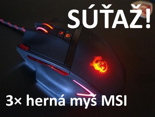 Rýchla súťaž o tri herné myšky MSI DS200